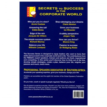 Secrets to Success in the Corporate World - Back Cover